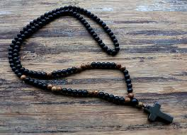 black rosary black rosary with pendant
