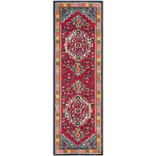 safavieh monaco red turquoise 6 ft 7 in x 9 ft 2 in area rug
