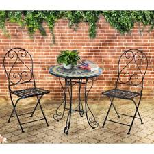 Mosaic Bistro Table Set Mosaic Bistro 3 Piece Outdoor Table And Chairs Set