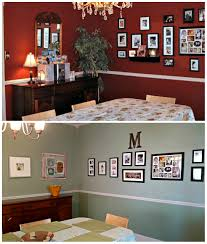 dining room makeover from dark to light foursquare house built