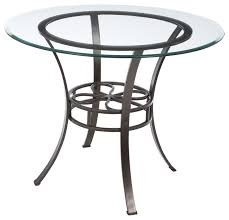 Coffee Table With Metal Base by Round Glass Top Dining Table With Durable Metal Base Dining