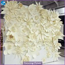 wedding backdrop flowers white paper flowers for wedding backdrops wall view flower