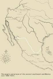 Aztec Empire Map The People And Places Of The Ancient Southwest And Mexico
