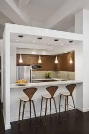 stylish mini kitchen design for interior decorating concept with