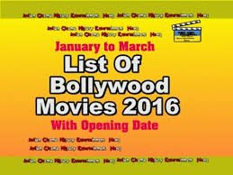 list of of 2016 january to march with opening date