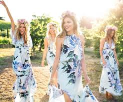 watercolor bridesmaid dresses floral bridesmaid dresses brides