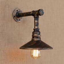 Edison Wall Sconce Loft Style Iron Water Pipe L Edison Wall Sconce With Switch