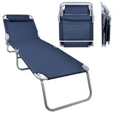 Camping Lounge Chair Ce Compass Fold Chas Loug Dkblu Patio Lounge Chair Dark Blue