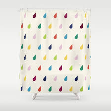 raindrops shower curtain by cutecutecute society6