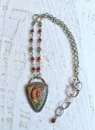opal stone silver necklace images Rocky butte jasper and mexican opal stone on stone necklace with jpg
