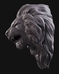 lion print lion head animal 3d print model cgtrader