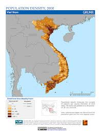 Map Vietnam Maps Global Rural Urban Mapping Project Grump V1 Sedac
