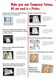 200set lot temporary tattoos on your inkjet or laser printer with