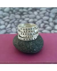 stacking name rings sweet deal on personalized stacking name ring in sterling