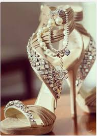 wedding shoes rhinestones shoes chanel chanel shoes rhinestones high heels high