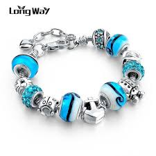 bracelet beads pandora style images Silver charm bracelets for women with crystal pandora style jpg