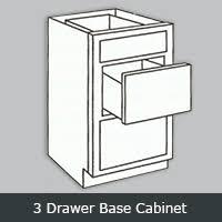 3 Drawer Base Cabinet Randolph Cabinets