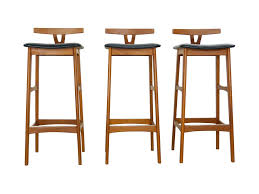 danish bar stools danish modern teak bar stools by dyrlund s 3 oneandhome