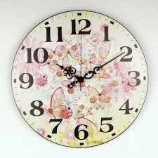 beautiful butterfly wall clock u2013 home decor