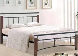 Wood And Metal Bed Frames Kentucky Bed Frame 3ft Single Antique Oak Wood And Black Metal