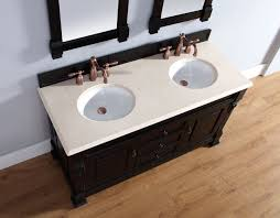Antique Sinks Abstron 60 Inch Antique Black Finish Double Traditional Bathroom