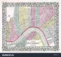 Map New Orleans Antique Map New Orleans 1870 Stock Photo 631211 Shutterstock