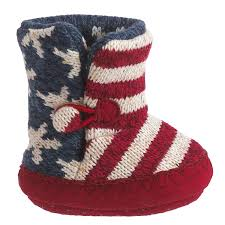 muk luks stars and stripes booties for infants save 63