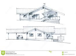 graphic sketch of a house arrangement stock photo image 57689216
