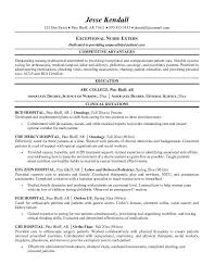 Nursing Resume Objective Examples by Er Nurse Resume Template Billybullock Us