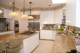Kitchen Backsplash With Granite Countertops Granite Countertop Grey Kitchen Cupboard Paint Travertine Subway