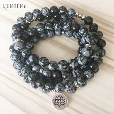black prayer beads bracelet images Kundena classic black bracelet snowflake beaded bracelet for men jpg