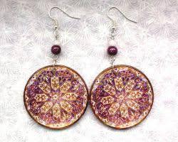decoupage earrings cepelia by eibhlin san on deviantart