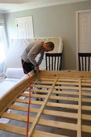 Build Your Own Platform Bed Frame Plans by King Size Bed Frame Diy Diy Furniture Pinterest King Size