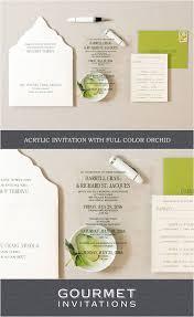 acrylic wedding invitations gourmet invitations