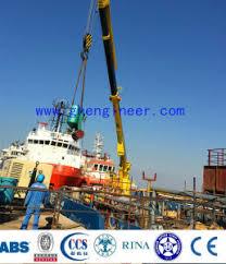 Pedestal Crane China Ghe 24t 3m U00264t 30m Electric Hydraulic Crane Pedestal Crane