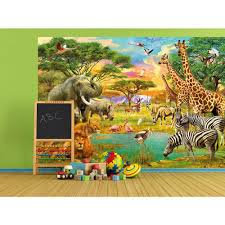 ideal decor 144 in w x 100 in h balloons over bagan wall mural w on safari wall mural
