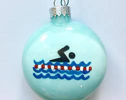swimming ornament etsy
