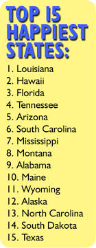 happiest states sunniest states are the happiest states cdc survey shows smart tan