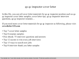Sample Qa Resumes by Qa Qc Inspector Cover Letter