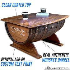 barrel table barrel coffee table whiskey barrel table
