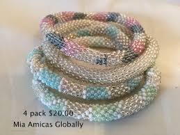 bead bracelet crochet images 3 pack nepal beaded bracelet 15 00 JPG