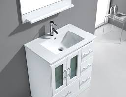 virtu usa zola 30 single bathroom vanity cabinet set in white