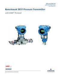 manual rosemount 3051 pressure transmitter with hart protocol