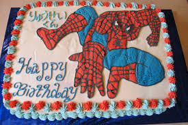 How To Decorate Spiderman Cake Spiderman Birthday Sheet Cake U2014 Fitfru Style Really Cool
