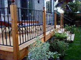 Balcony Banister Outdoor Ideas Marvelous Vinyl Porch Railing How To Design A Deck