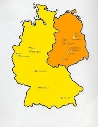 Maps Of Germany by Map Of Germany When Divided