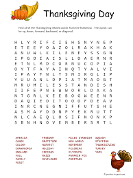 thanksgiving word search pinteres