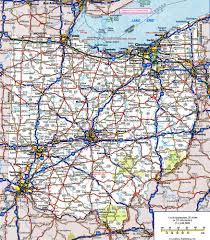 Ohio Map Us by Ohio Road Map