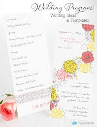 wedding programs sle wedding program wording magnetstreet weddings