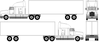 tractor trailer coloring pages f 228 rgl 228 gg motorfordon sida 2 for dump truck coloring pages